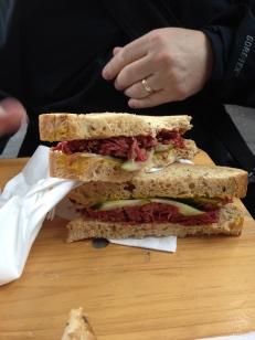Salt beef sandwiches- too yummy!