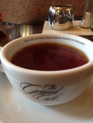 The Grand Cafe is warm, cozy, and reasonably priced for being in the center of Oxford