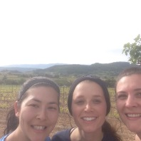 Morning run through the vineyards!