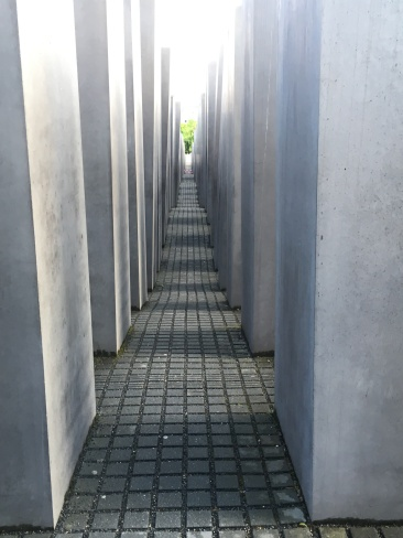 Winding through the maze of the memorial to murdered Jews