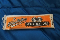 This is apparently the old school energy bar- just a load of sugar with a minty flavor.