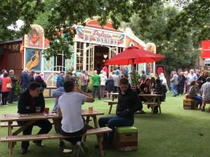 Beer Garden and Jazz Fest tent.