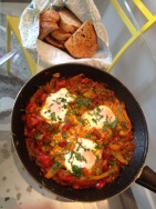 Ottolenghi-inspired shakshuka breakfast. Yep!