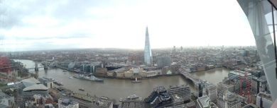 View from the Sky Garden. My first office building is near the boat on the left side.