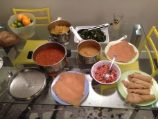 Our Ethiopian Christmas dinner. We made everything except the injera.