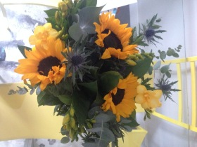Flowers from Corey for my birthday as he was in Columbia for a bachelor party