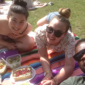First picnic of the year. Wait, the only picnic of the year! But we had a seriously gourmet spread