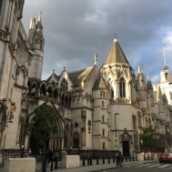 The Strand and the Royal Courts of Justice found on a walk with Anson