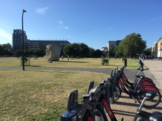 Shoreditch park and our Boris bikes