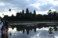 Angkor Wat during a cloudy sunrise