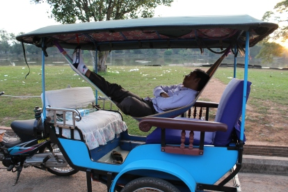 Tuktuk drivers 'tuked' in waiting for their guests