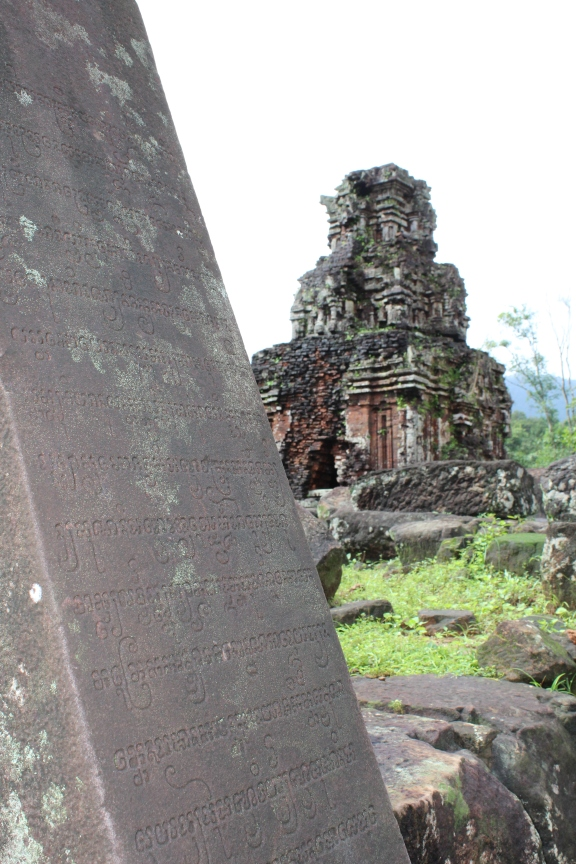 Ancient sanskrit writing tells us this temple was influence by the Cham people from India.