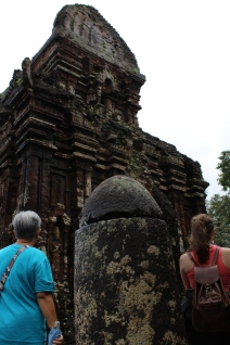 The linga is a Hindu symbol representing energy and fertility. These were all over temples in Vietnam.