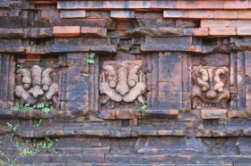 Three faces to guard the temple