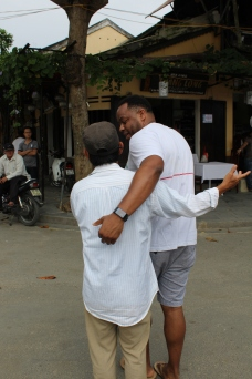 Everyone wanted to welcome Corey to their country. More pics to come on Corey being embraced by locals and tourists alike.