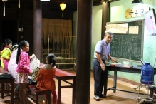 I heard a bit of Japanese walking through the Hoi An lanes and we came upon a Japanese language class for kids.