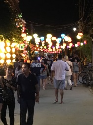 Beautiful lanterns line the main streets in Hoi An's tourist center.