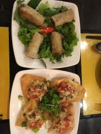 Morning Glory restaurant: the start of our spring roll gluttony and crab wontons