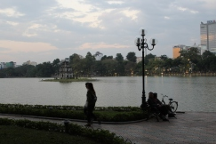 Walk along the Hoan Kiem lake. We wish we had rented bikes at some point here.