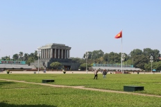 Ho Chi Minh mausoleum in Ba Dinh Square.