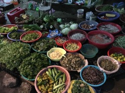 Produce along the streets of Hue