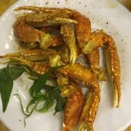 Spicy crab legs