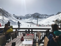 View from our lunch place on the slopes.