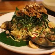 Infamous tea leaf salad