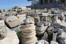 Pieces of Corinthian columns
