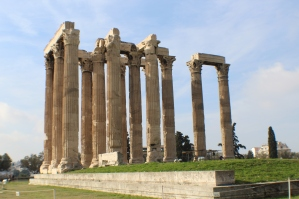 Temple of Zeus before heading out to see Poseidon's Temple