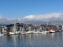 Boats along Aker Brygge