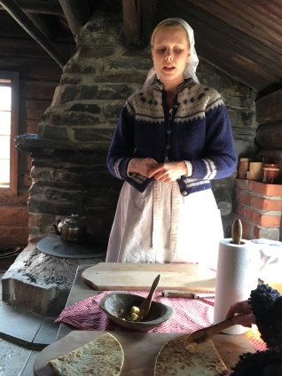 We tasted lefse- a rich sweet flatbread usually eaten at special occasions like weddings since sugar and flower were hard to come by historically.