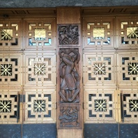 Incredible carvings at city hall entrance