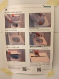 Helpful instructions for the cinderella toilet. Barbara and I were fascinated the entire visit!