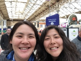 Victoria Station! Miya reminded me of how beautiful the train stations are in this city.