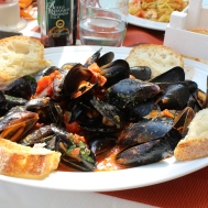 Soup of mussels for lunch at Il Fornillo