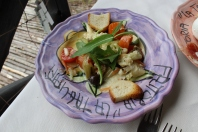 Mixed veggie salad served cold