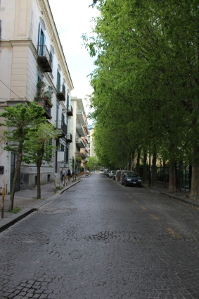 One of the streets leading back to the funicular