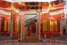Funhouse like entrance at Madre