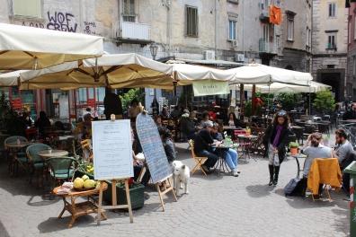 Outdoor cafe scene