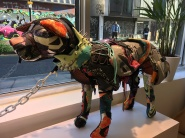 Brick Lane shop: dog made with all Nike products (Brits say 'nike' like it rhymes with bike btw)
