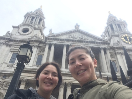St Paul's Cathedral selfie 1