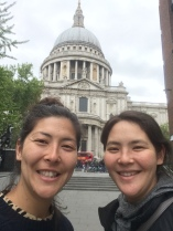 St Paul's Cathedral selfie 2