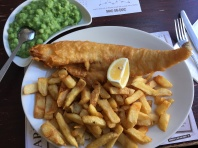 Fish and chips by the coast is so much better!