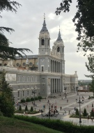 View of Almudena Cathedral from Calle de Factor