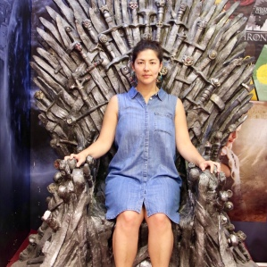 There is only one throne we found in the entire city! If you buy something, you can take a picture. If you borrow a tourists receipt from their walking tour, you can also take a picture.