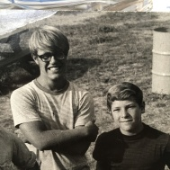 Scrapbook part 2: Best buddies, Uncle Jim and dad in high school. They are both standing in this picture!