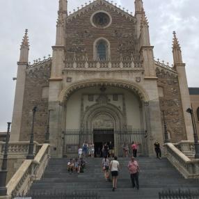 Church behind the Prado called Los Jeronimos