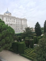 Back of the Palace overlooking the garden mazes