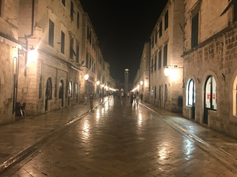 Stradun in the evening. I can't believe I got a pic with so few people